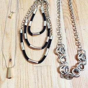 Set of 3 Gold Tone Necklaces
